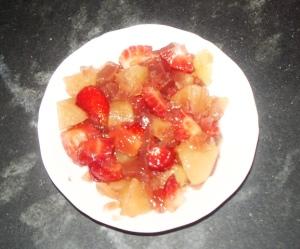 Compotes de pommes à vanille
