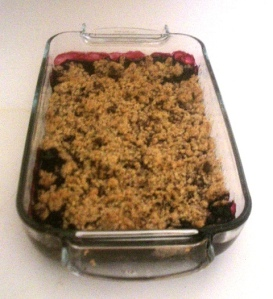 Le crumble aux fruits rouges