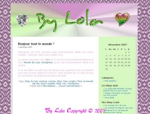 "Page d'accueil ""By Lola"""