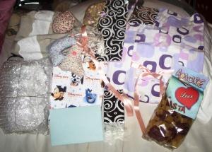 Colis de ma Lowine avec paquets emballés