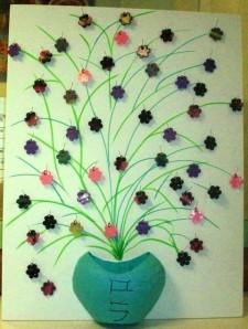 Bouquet de fleurs en fimo