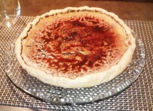 tarte aux pommes façon crème brulée