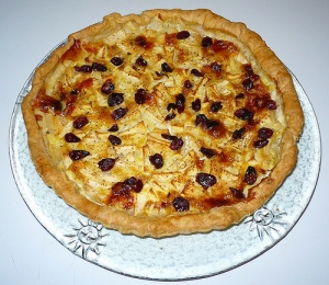 tarte-pommes-munster-cranberries