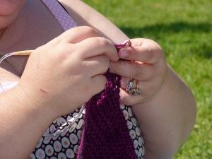 Tricotage des dernières mailles...