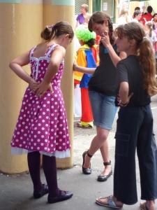 La robe vue de dos